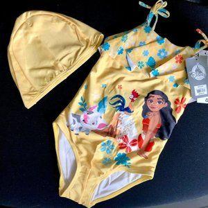 BNWT Disney Store Licensed Moana girls bathers